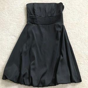 White House Black Market Black Satin Dress Size 0